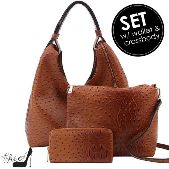 My Bag Lady Online Handbags - Ostrich & Alligator Hobo, Crossbody & Wallet Set